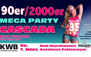 90/2000er MegaParty mit Cascada