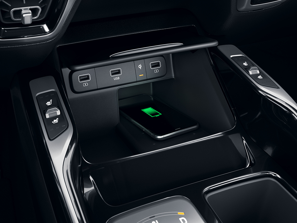 Kia Sorento Hybrid induktive Smartphone-Ladestation